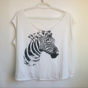 Zebra Print Graphic Tank Top
